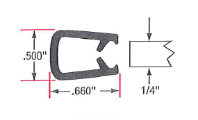 Vinyl & Sponge with Flexible Segmented Steel Core
