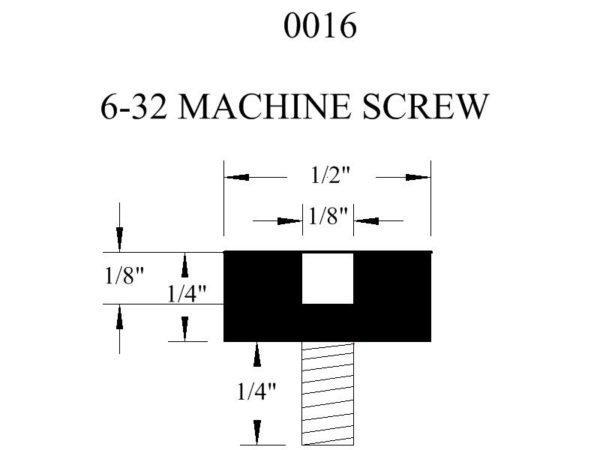 0016 Machine Screw Rubber Bumper