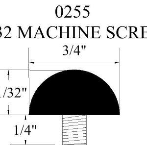 0255 Machine Screw Rubber Bumper