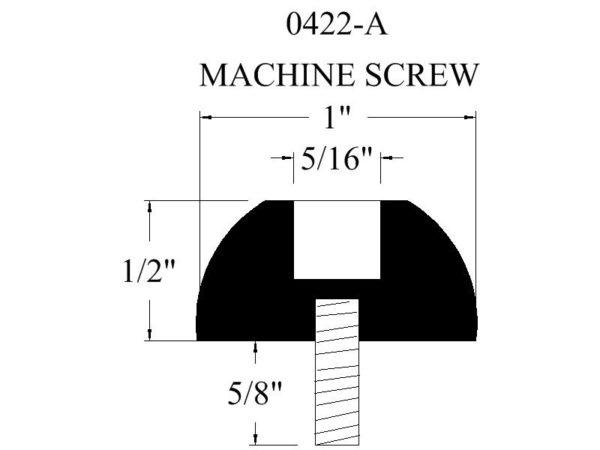 0422-A Machine Screw Rubber Bumper