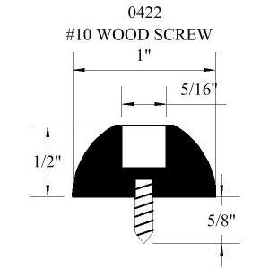 0422-WS Wood Screw Rubber Bumper