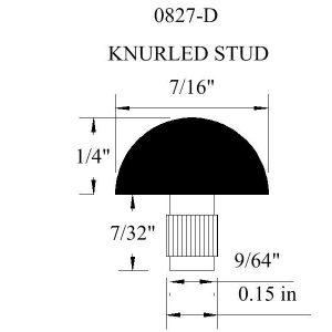 0827-D Knurled Stud Rubber Bumper