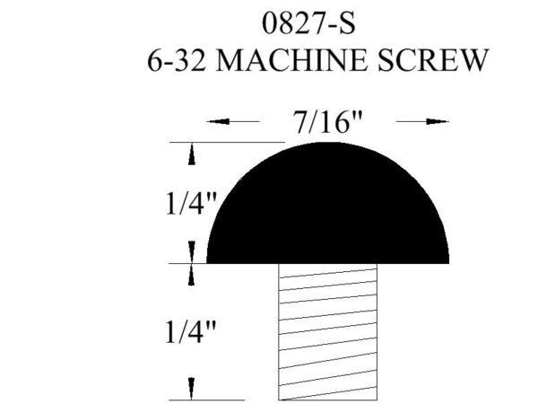 0827-S Machine Screw Rubber Bumper