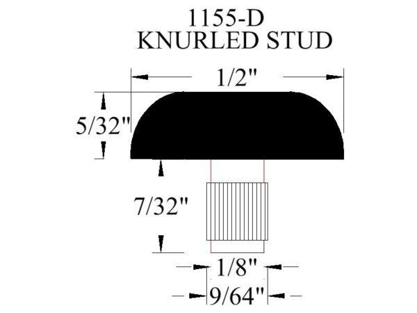 1155-D Knurled Stud Rubber Bumper